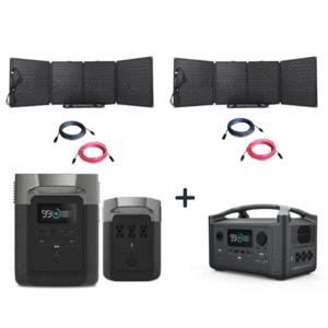 EcoFlow Delta 1800W / 1300wH + RIVER600 [1548wh Kit]