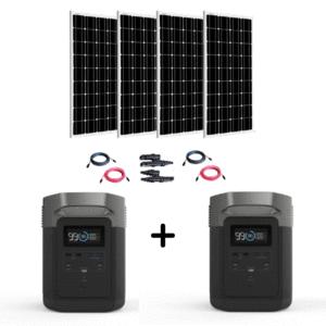 EcoFlow Delta [Two By Four Kit] 2 x 1800W