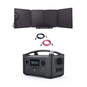 EcoFlow RIVER600 Portable Power Station + 110W Folding Solar