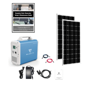 MaxOak Bluetti EB240 Solar Generator [Double Kit] 2400Wh Generator