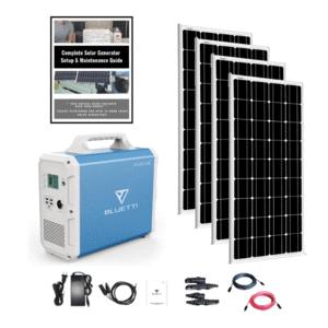 MaxOak Bluetti EB240 Solar Generator [Quad Kit] 2400Wh Generator