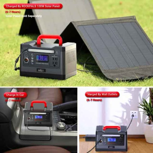 ROCKPALS 540Wh Portable Solar Generator Kit
