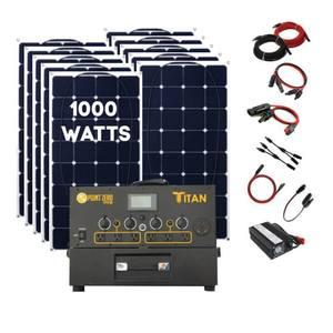 Titan Solar Generator + 10 x 100 Watt Monocrystalline