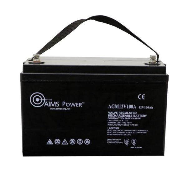 AIMS AGM 12V 100Ah Deep Cycle Battery