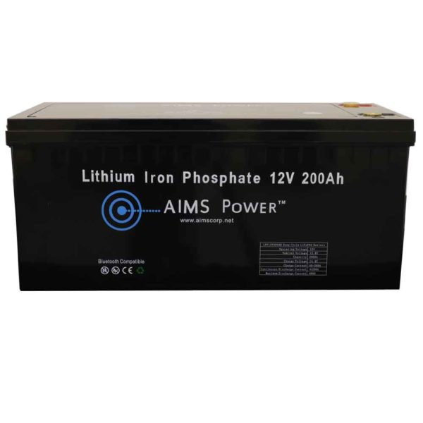 AIMS Lithium Battery 12V 200Ah LiFePO4 with