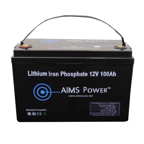 AIMS Power 12V LiFePO4 Lithium Iron Phosphate
