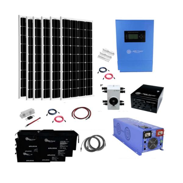Complete Off-Grid Solar System [AGM Kit]