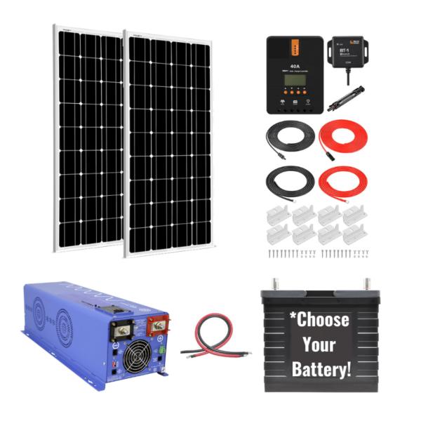 Complete Off-Grid Solar System [Ultimate Off-Grid Kit]