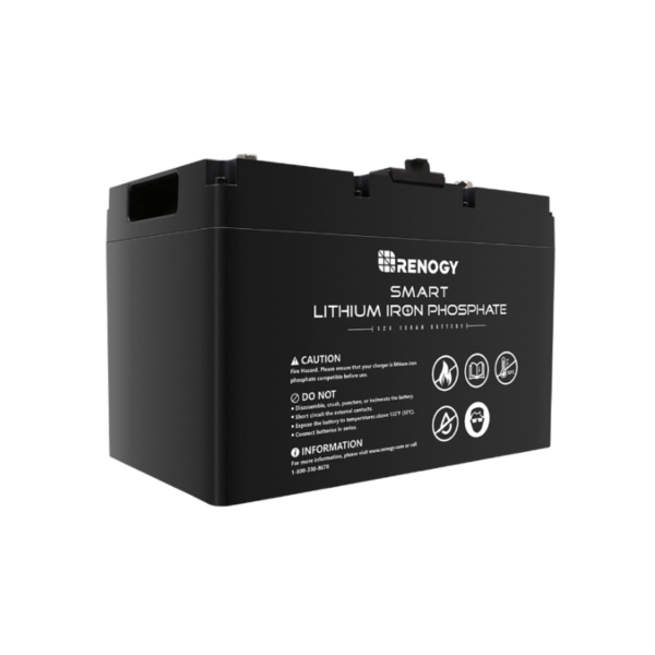 Renogy 12V 100AH Smart LiFePO4 Battery |