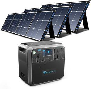 BLUETTI AC200P 2000Wh + 3 Pcs Solar Panel 200W
